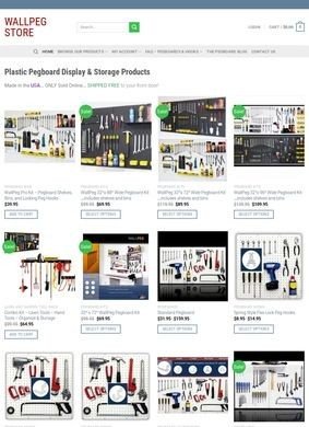 Wallpeg Store Pegboard System