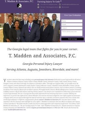 Georgia Personal Injury Attorneys: T. Madden & Associates, P.C