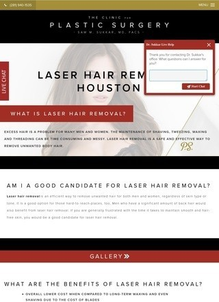 Laser hair removal in Houston - Dr. Sam Sukkar