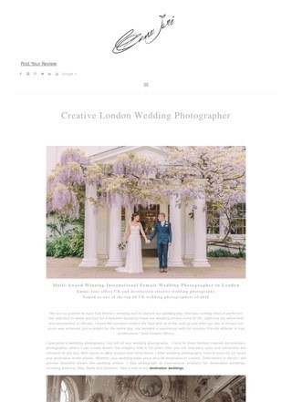 London Destination Wedding Photographer