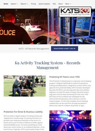 KATS - K9 Activity Tracking System Law Enforcement Software