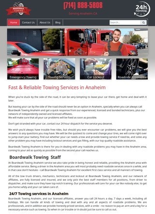 Premium Towing & Roadside Help Services in Anaheim