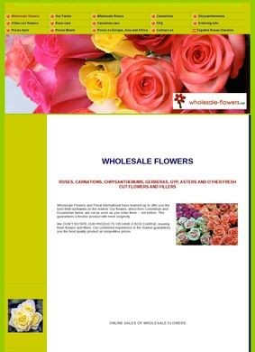 Wholesale Flowers - Fresh Cut Flowers