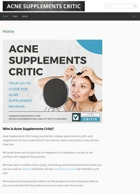 Acne Supplements Critic