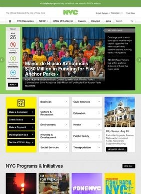The official New York City web site