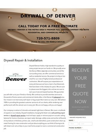 Drywall Installation & Repair Denver CO