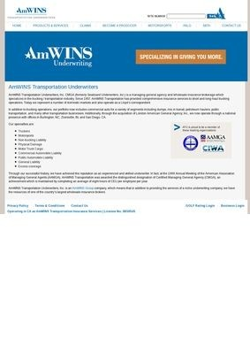 AmWINS Transportation Underwriters