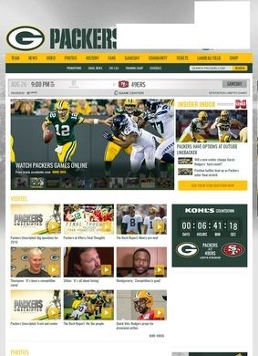 Official website of the Green Bay Packers