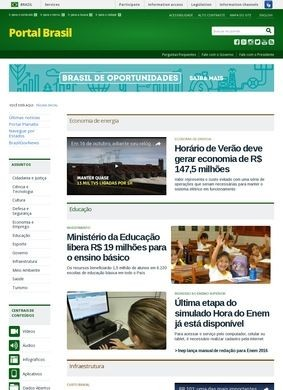 Brazil Government Page