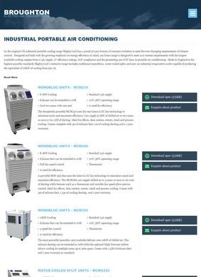 Broughton EAP: Industrial Portable Air Conditioning Units