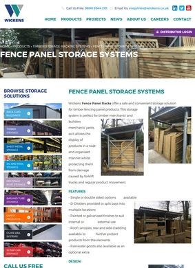 Wickens: Fence Panel Storage Systems
