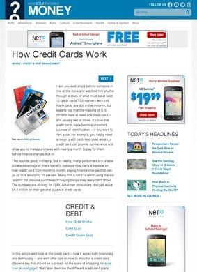 How Stuff Works: Credit Cards